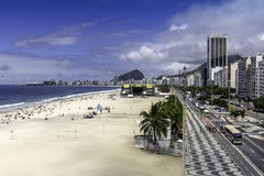 Aerial view of Copacabana Beach Royalty Free Stock Photos