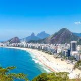 Aerial view of Copacabana Beach in Rio de Janeiro Stock Images