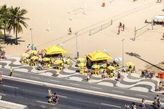 Aerial view of Copacabana beach in Rio de Janeiro, Brazil stock photo