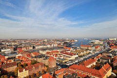 Aerial view of Copenhagen Royalty Free Stock Image