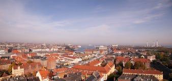 Aerial view of Copenhagen Stock Images