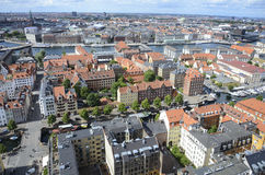 Aerial view of Copenhagen Stock Photography
