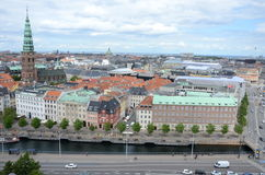 Aerial view of Copenhagen Royalty Free Stock Photos