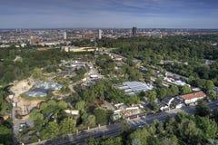Aerial view of Copenhagen Zoo, Denmark. Aerial view of Copenhagen Zoo located in Frederiksberg, Denmark royalty free stock photo