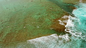 Aerial view of coral reefs stock video