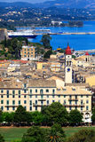 Aerial view on the Corfu city Stock Photos
