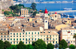 Aerial view of Corfu city Royalty Free Stock Image