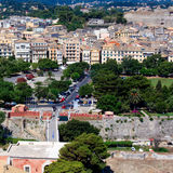 Aerial view of Corfu city, Greece Stock Image