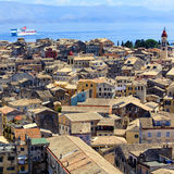 Aerial view of Corfu city, Greece Royalty Free Stock Image
