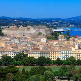 Aerial view of Corfu, Greece Royalty Free Stock Photos