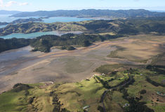 Aerial View of Coromandel, New Zealand royalty free stock photo