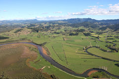 Aerial View of the Coromandel Peninsular. Aerial view of undulating countryside near Whitianga, Coromandel Peninsular, New Zealand Royalty Free Stock Photography