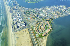 Aerial view of Coronado Island, San Diego Stock Photos