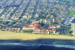 Aerial view of Coronado Island, San Diego Royalty Free Stock Photos