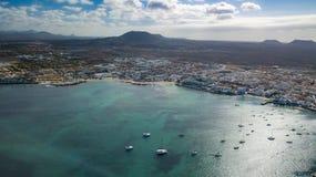Aerial view of corralejo Royalty Free Stock Photo