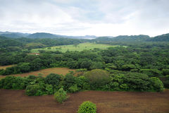 Aerial view in Costa Rica. Aerial view in Samara, Costa Rica Royalty Free Stock Image