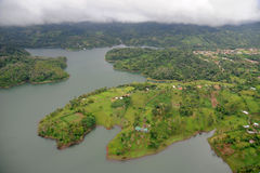 Aerial view in Costa Rica. Arenal Volcano area Stock Photos