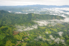 Aerial view in Costa Rica Royalty Free Stock Image