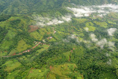 Aerial view in Costa Rica Royalty Free Stock Photography