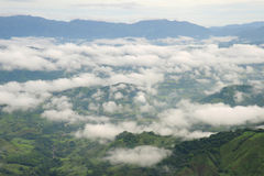Aerial view in Costa Rica. Arenal Volcano area Stock Images