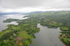 Aerial view in Costa Rica. Arenal Volcano area Stock Photo