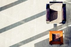 Aerial view of couch and table with shadows. And natural light Stock Photography