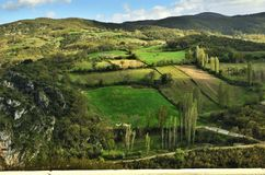 Aerial view of a country landscape in Turkey I royalty free stock photos