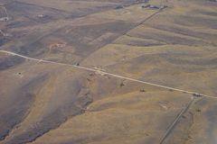 Aerial view of country road Stock Images