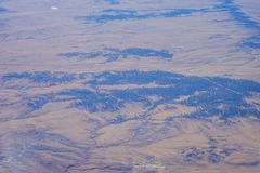 Aerial view of country road Royalty Free Stock Images