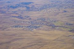 Aerial view of country road Royalty Free Stock Photo
