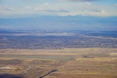Aerial view of denver downtown Royalty Free Stock Photography