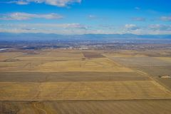 Aerial view of Denver farm Royalty Free Stock Images