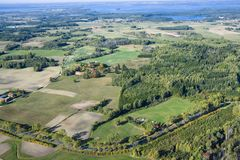 Aerial view of countryside Stock Photography
