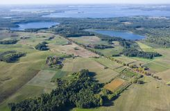 Aerial view of countryside Royalty Free Stock Photography