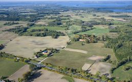 Aerial view of countryside Royalty Free Stock Photo