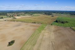 Aerial view of countryside Royalty Free Stock Image