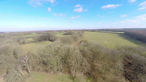 Aerial view of the countryside stock video