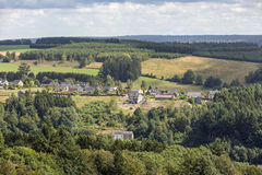 Aerial view countryside near Bouillon in Belgium Royalty Free Stock Photo