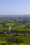 Looking ahead distant. Aerial view of the maltese countryside found in the limits of Rabat on the island of Malta Stock Photography