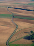 Aerial view of countryside road Stock Images