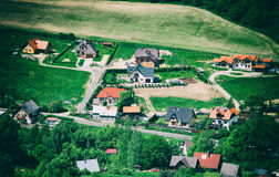 Aerial view in countryside Stock Photography