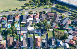 Aerial view of countryside village Stock Photography