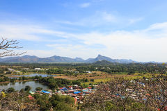 Aerial view of countryside village landscape, lopburi Stock Photography