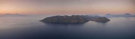 Aerial View of Coves close to Gocek Stock Image