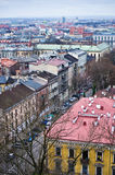 Aerial view of Cracow Poland Royalty Free Stock Images