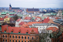 Aerial view of Cracow Poland Stock Photography