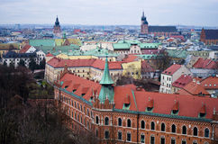 Aerial view of Cracow Poland Stock Photo