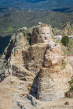 Aerial view of Crazy Horse Royalty Free Stock Photography