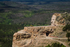 Aerial view of Crazy Horse Royalty Free Stock Photos
