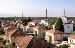 Aerial view of Crespi d'Adda. Italy Royalty Free Stock Photography